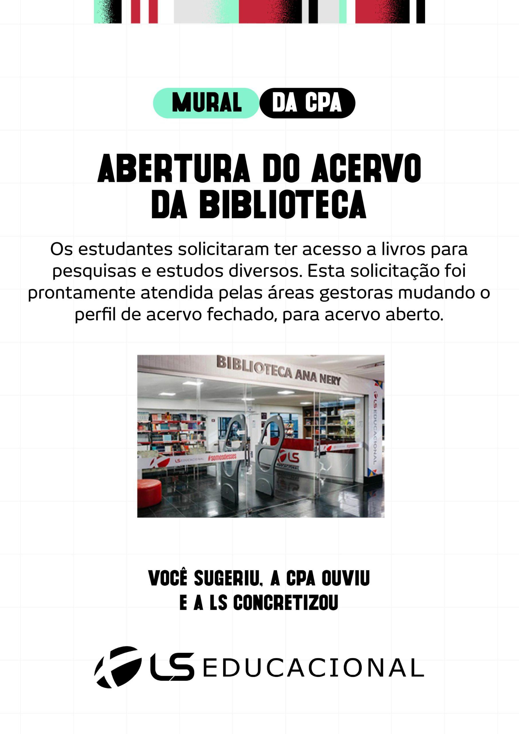 ACERVO ABERTO BIBLIOTECA