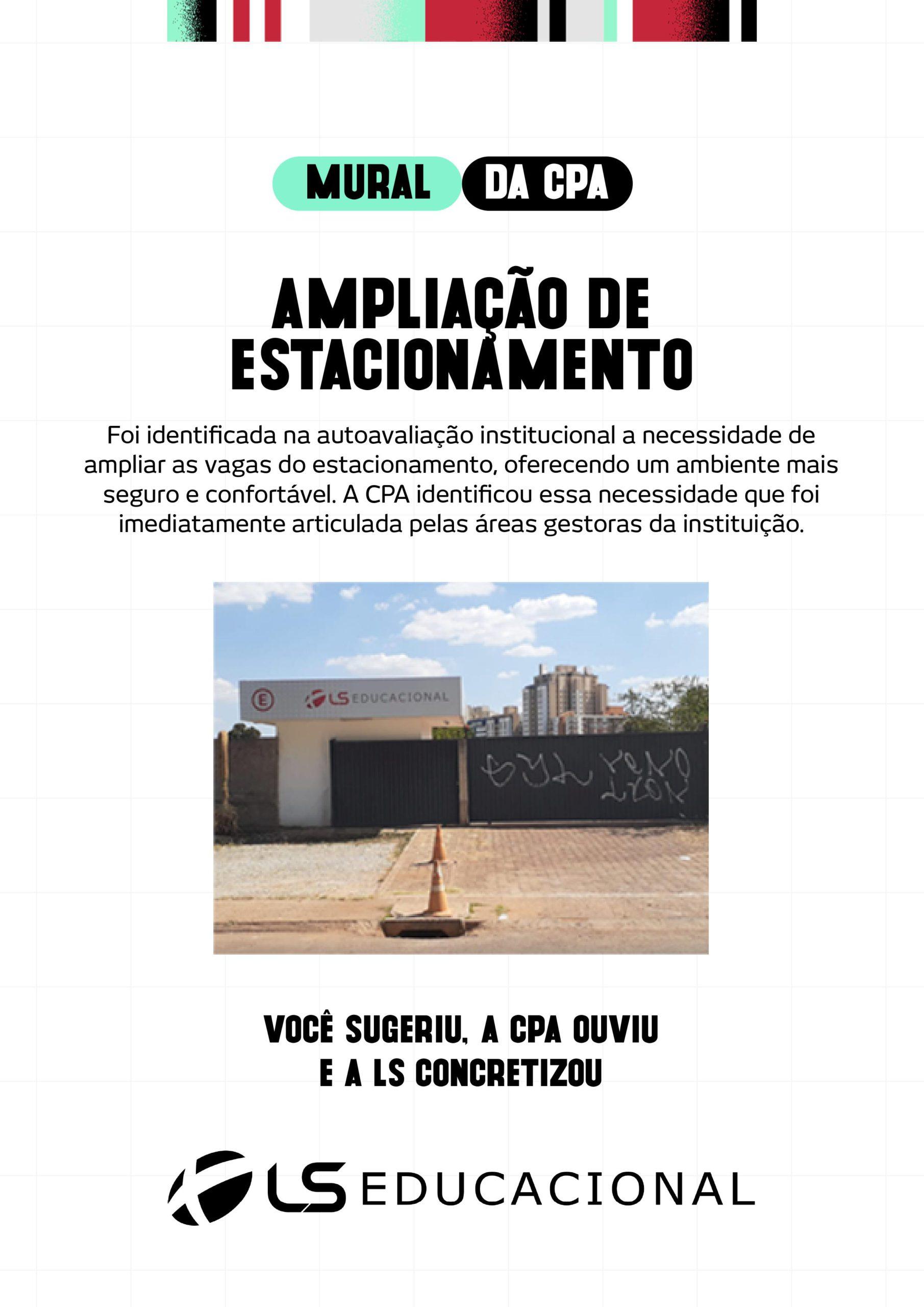 AMPLIAÇÃO DE ESTACIONAMENTO
