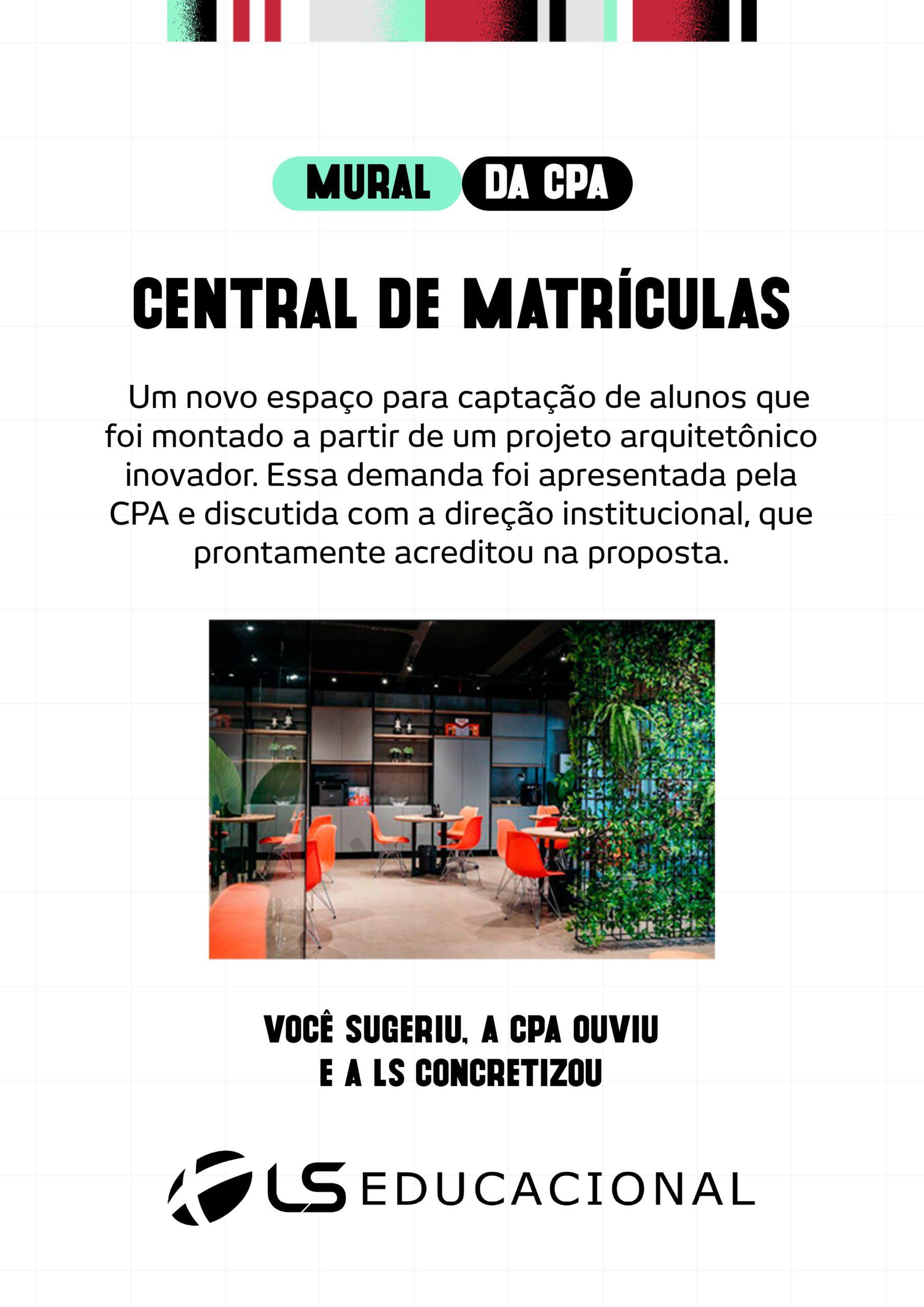 CENTRAL DE MATRÍCULAS