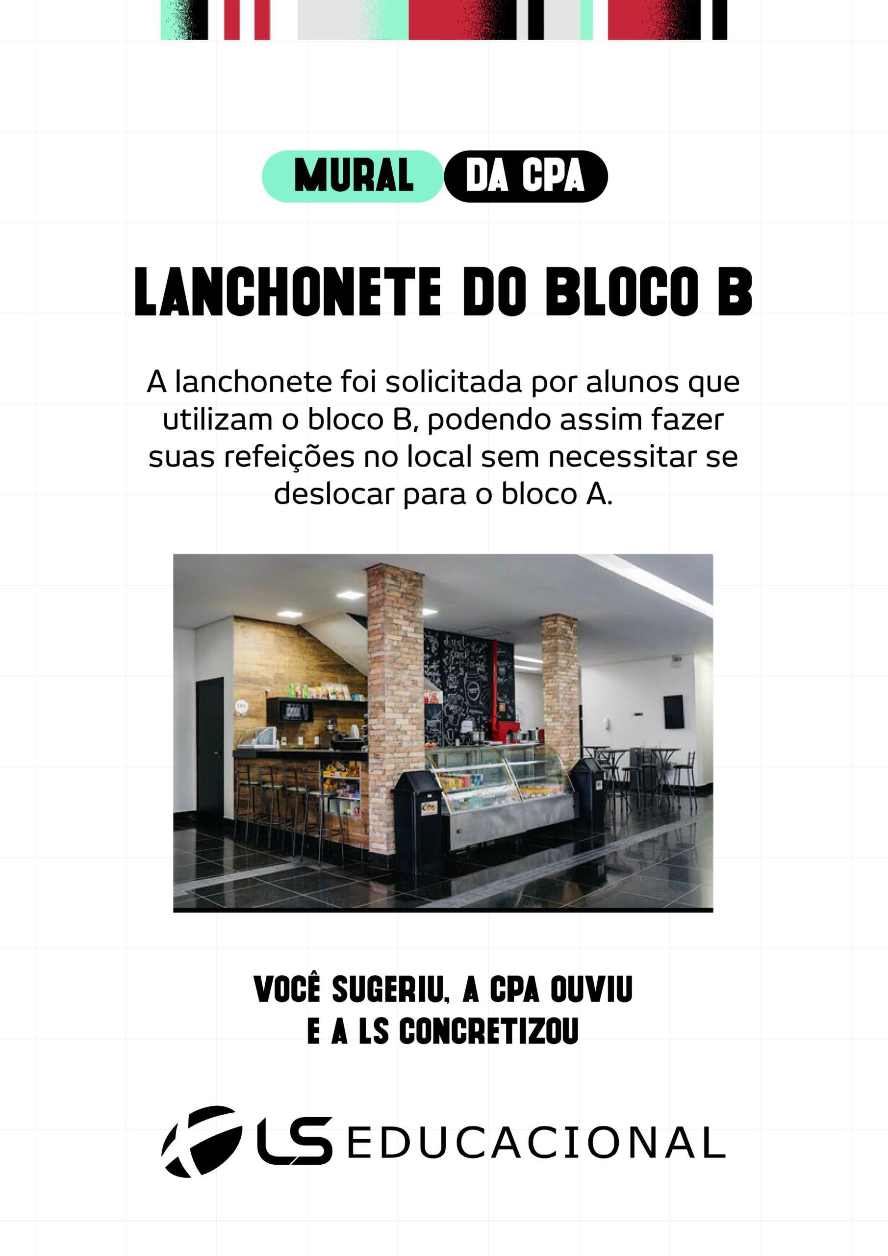 LANCHONETE – BLOCO B