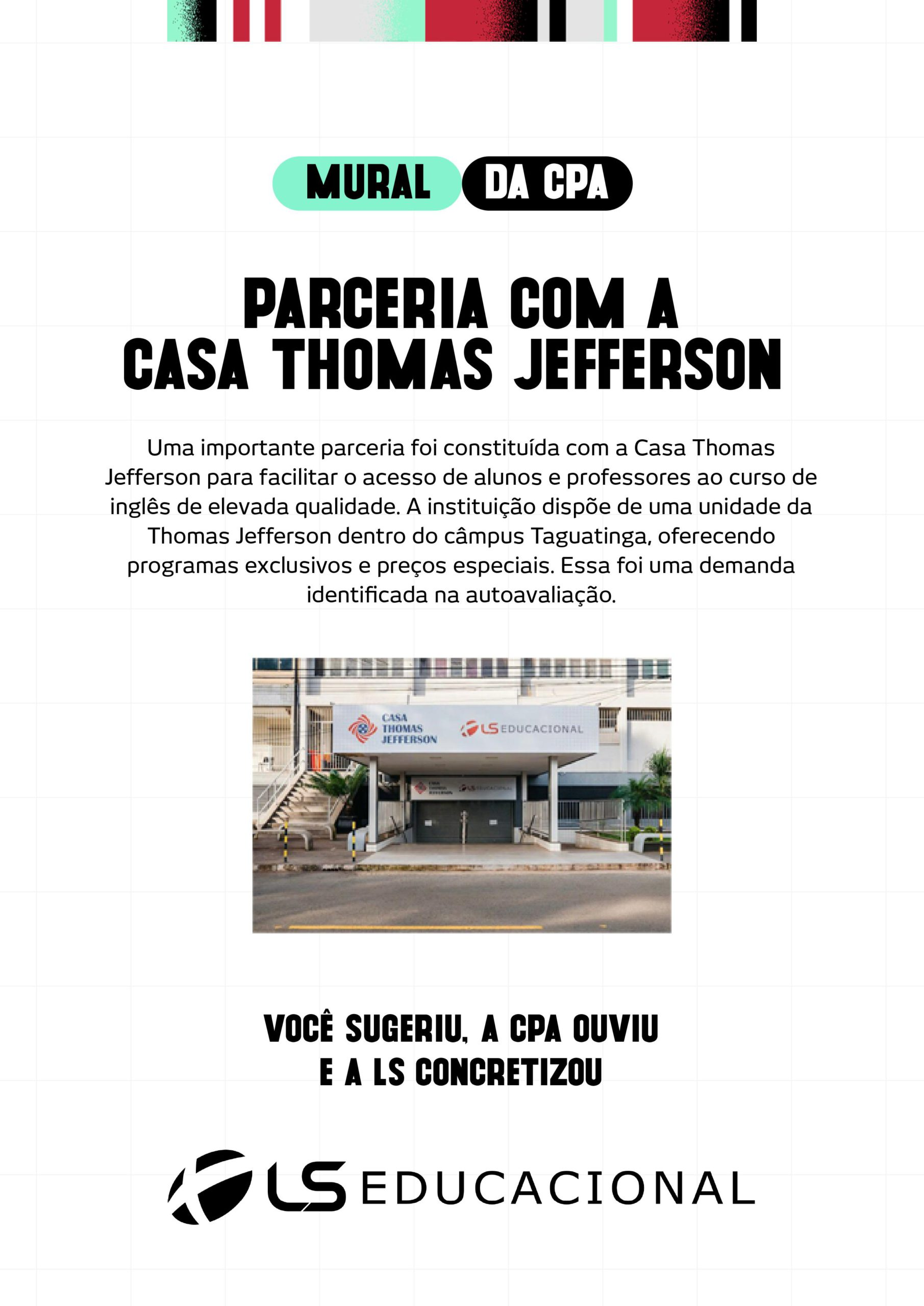 PARCERIA COM A THOMAS JEFFERSON